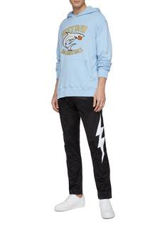 Just Don Shark logo appliqué hoodie