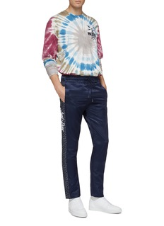 Just Don Slogan print tie-dye effect long sleeve T-shirt