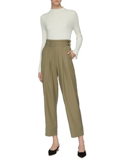 Mijeong Park Pleated front wool peg pants