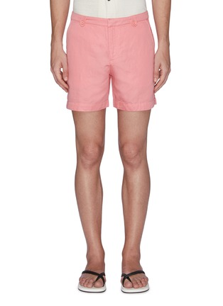 Main View - Click To Enlarge - ORLEBAR BROWN - x 007 James Bond 'Thunderball Day' cotton-linen shorts