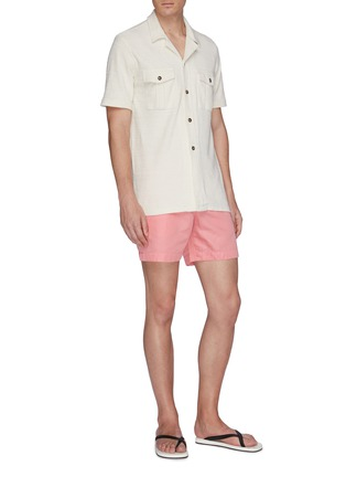 Figure View - Click To Enlarge - ORLEBAR BROWN - x 007 James Bond 'Thunderball Day' cotton-linen shorts
