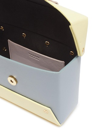 Detail View - Click To Enlarge - YUZEFI - 'Asher' oversized ring colourblock leather camera box bag