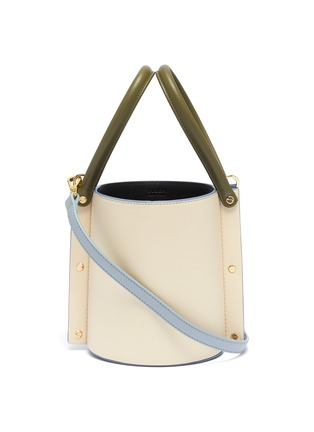 Main View - Click To Enlarge - YUZEFI - 'Cubo' colourblock leather bucket bag