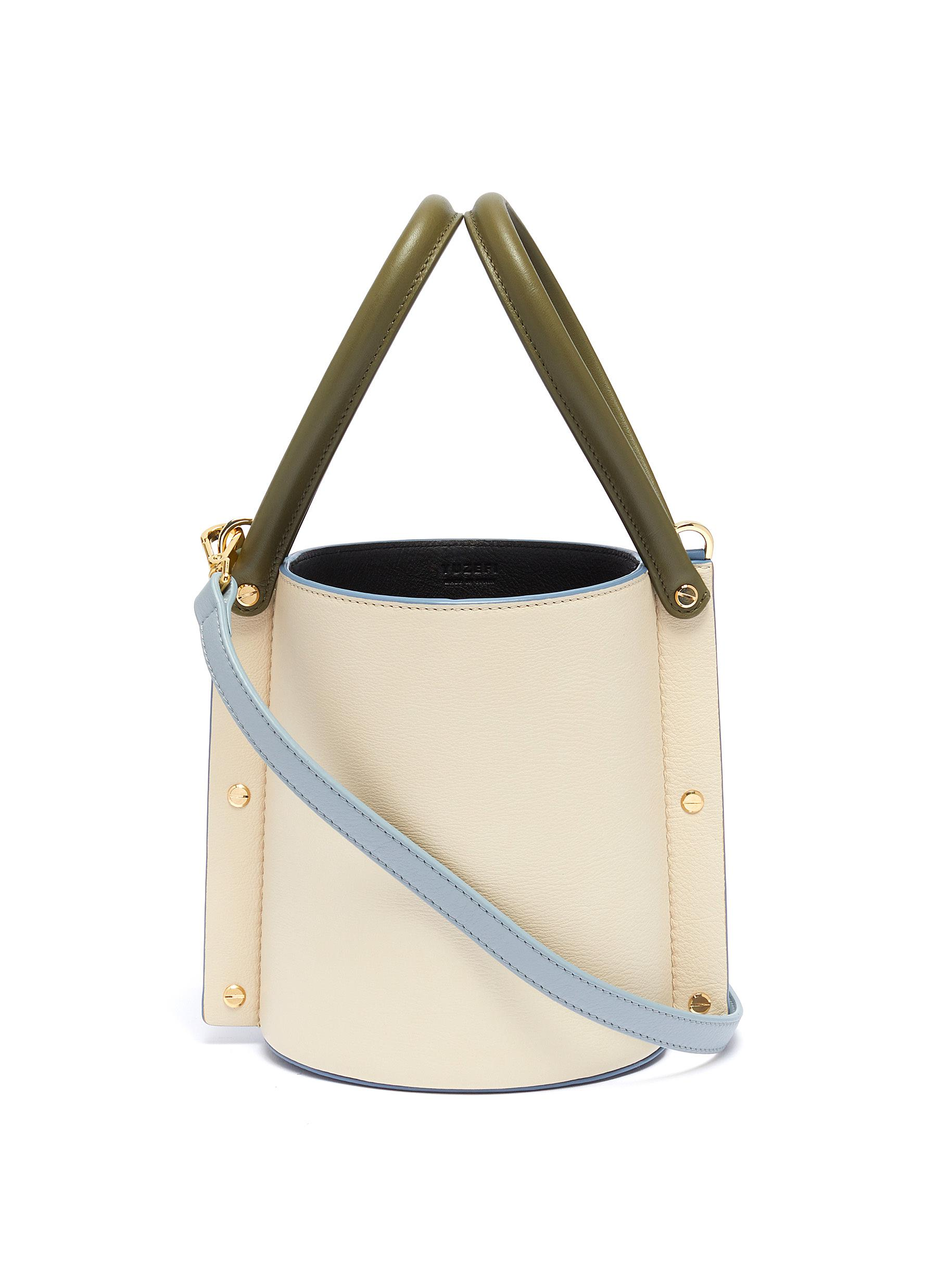 2d9da6f1aeb Main View - Click To Enlarge - Yuzefi - 'Cubo' colourblock leather bucket  bag