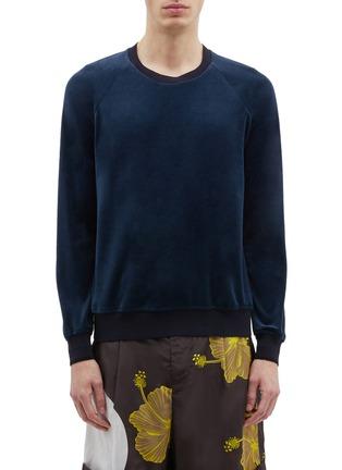 Main View - Click To Enlarge - 3.1 PHILLIP LIM - Velour raglan sweatshirt