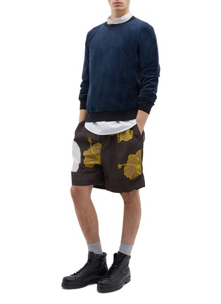 Figure View - Click To Enlarge - 3.1 PHILLIP LIM - Velour raglan sweatshirt