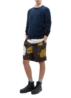3.1 Phillip Lim Belted pleated floral print shorts