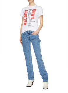 Helmut Lang Panelled utility jeans