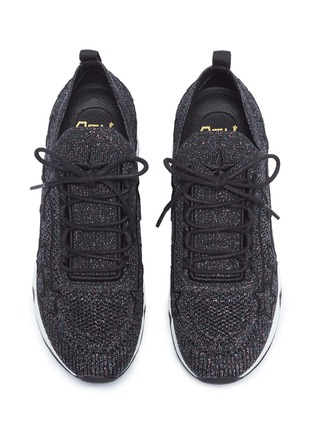 Detail View - Click To Enlarge - ASH - 'Lunatic Star' appliqué metallic knit sneakers
