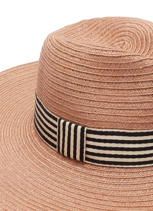 Detail View - Click To Enlarge - Eugenia Kim - 'Emmanuelle' stripe ribbon straw hat
