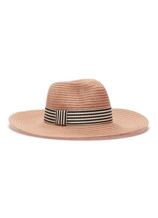 Main View - Click To Enlarge - Eugenia Kim - 'Emmanuelle' stripe ribbon straw hat