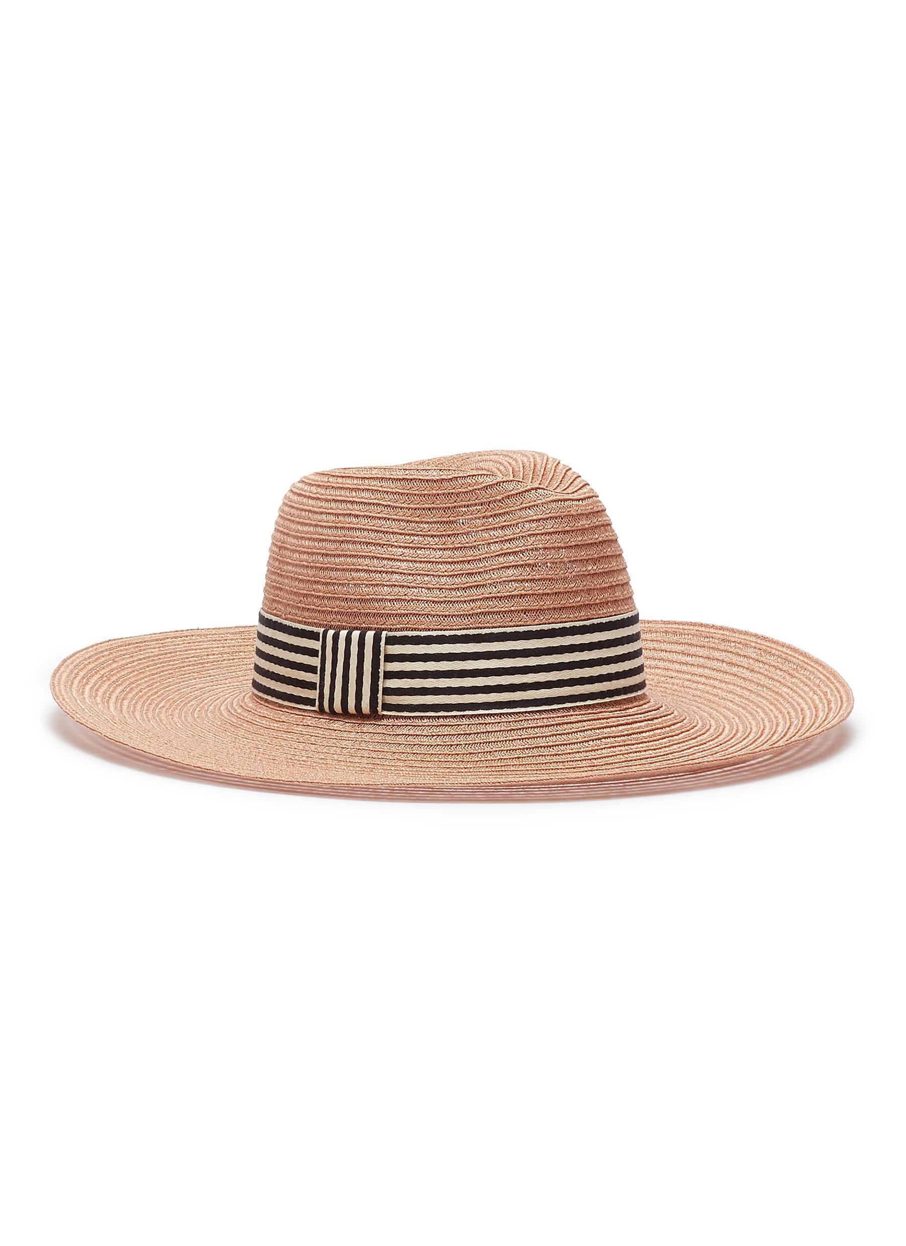 1e5b5b4d3ae91 Eugenia Kim.  Emmanuelle  stripe ribbon straw hat