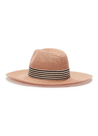 Figure View - Click To Enlarge - Eugenia Kim - 'Emmanuelle' stripe ribbon straw hat