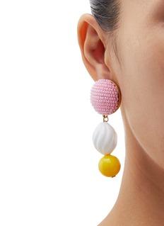 Shourouk 'Medee' seed bead stud drop earrings