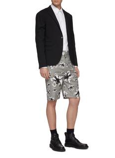 Neil Barrett Floral print houndstooth check plaid shorts