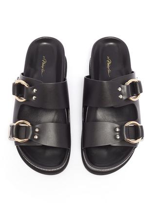 Detail View - Click To Enlarge - 3.1 Phillip Lim - 'Freida' buckled leather platform slide sandals