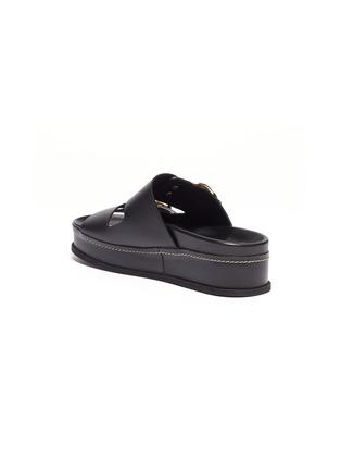 - 3.1 Phillip Lim - 'Freida' buckled leather platform slide sandals
