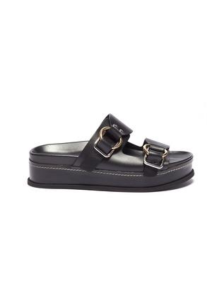 Main View - Click To Enlarge - 3.1 Phillip Lim - 'Freida' buckled leather platform slide sandals
