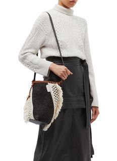 3.1 Phillip Lim 'Marlee' mini colourblock crochet knit panel woven crossbody bag