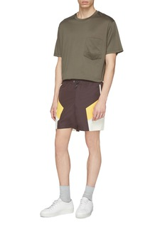 WOOYOUNGMI Colourblock track shorts
