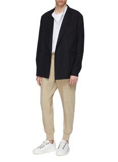 WOOYOUNGMI Mandarin collar panelled stripe shirt