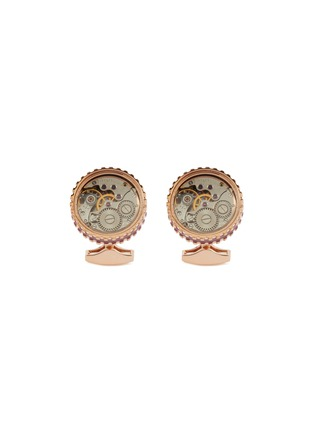Main View - Click To Enlarge - TATEOSSIAN - Round Skeleton Gear cufflinks