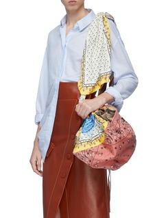 Acne Studios Patchwork scarf shoulder bag