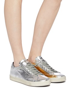 P448 'E9 John BS' panelled leather sneakers