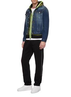 Moncler Mesh overlay zip hoodie