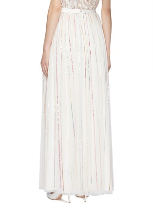 Back View - Click To Enlarge - Needle & Thread - 'Shimmer Sequin' pleated tulle maxi skirt