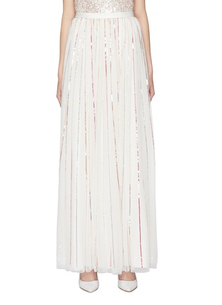 Main View - Click To Enlarge - Needle & Thread - 'Shimmer Sequin' pleated tulle maxi skirt