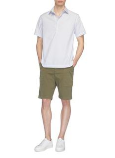 BARENA 'Pioppa Stecca' stripe half button placket short sleeve shirt