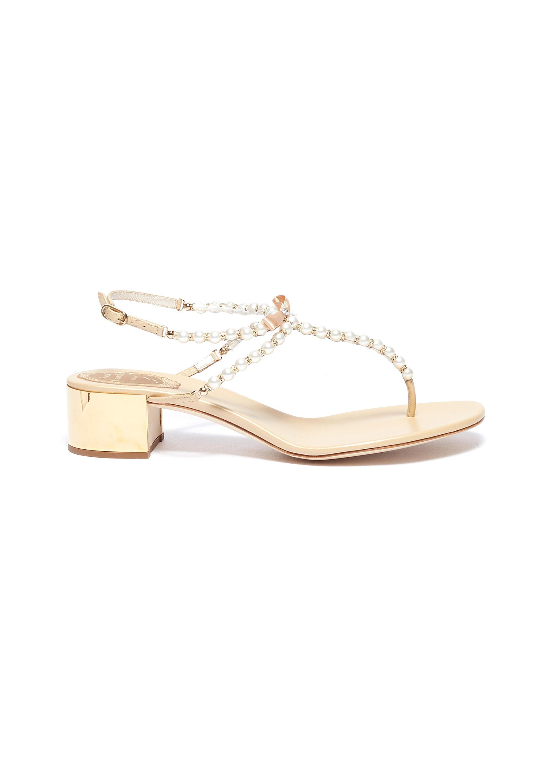 Eliza embellished leather thong sandals by René Caovilla