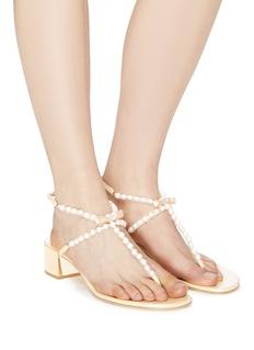 René Caovilla 'Eliza' embellished leather thong sandals