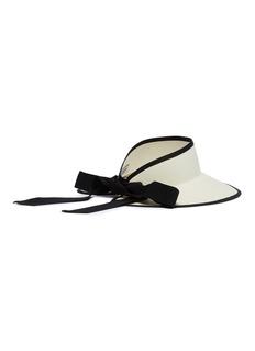 Sensi Studio Ribbon tie toquilla palm straw visor