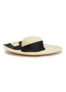 Sensi Studio 'Lady Ibiza' ribbon toquilla palm straw hat