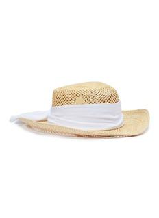 Sensi Studio Ribbon open weave toquilla palm straw hat