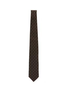 stefanobigi milano 'Taro' floral embroidered linen-silk herringbone tie
