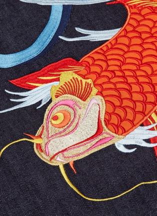 - ANGEL CHEN - Koi fish graphic appliqué denim windbreaker jacket