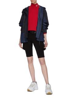 Angel Chen Koi fish graphic appliqué denim windbreaker jacket