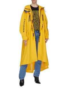 Angel Chen Slogan graphic appliqué windbreaker coat