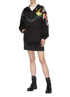 Angel Chen Graphic print half zip hoodie