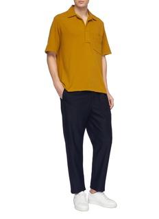 Camoshita Chest pocket terry polo shirt