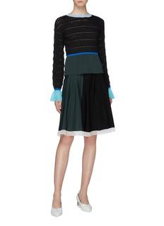 i-am-chen Colourblock knit skirt