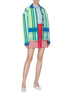 i-am-chen Colourblock stripe jacket