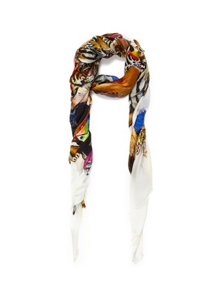 Main View - Click To Enlarge - Franco Ferrari - Animal collage print scarf