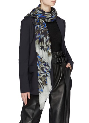 Figure View - Click To Enlarge - Franco Ferrari - Leopard print scarf