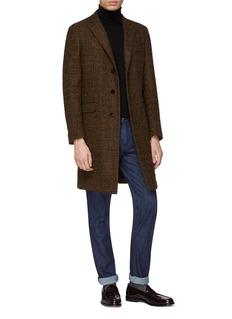 Eidos Wool blend houndstooth coat