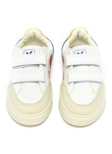 Veja 'V-12' colourblock faux suede panel kids sneakers