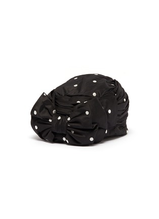 Main View - Click To Enlarge - Maison Michel - 'Betty' bow polka dot embroidered satin turban